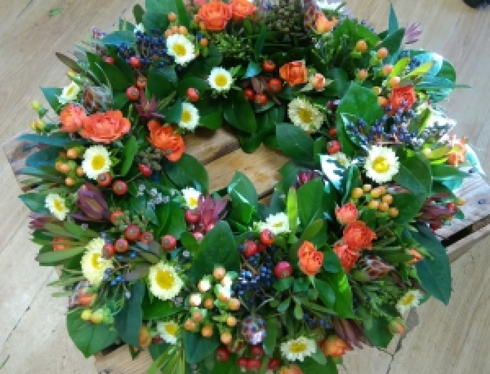 Mixed Autumn wreath