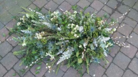 Rustic Coffin Spray